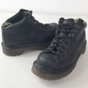 Dr. Martens Black Leather Boots US W6